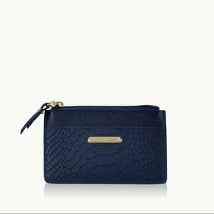 Gigi New York Navy Blue Card Case